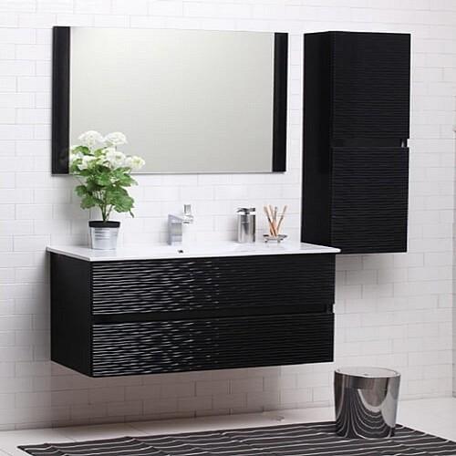 מגניב ביותר ארון אמבטיה מעוצב עם כיור אינטגרלי מהסדרות הייחודיות של eBath NH-91